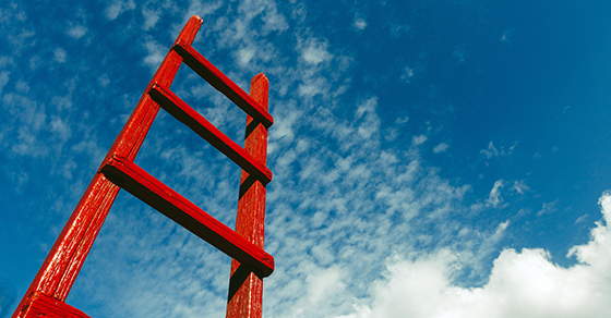 Red ladder to the sky