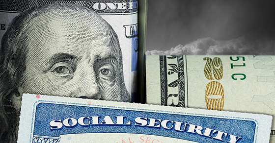 social security card and dollar bills