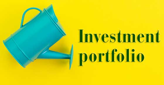 Watering can and the words INVESTMENT PORTFOLIO