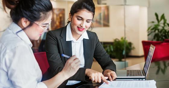 Business women having a meeting